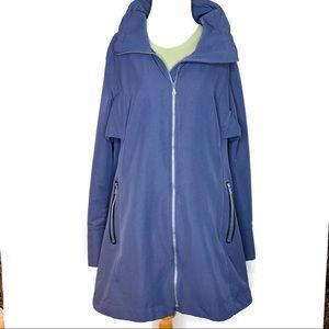 Eddie Bauer bark Navy women's rain jacket Size XL